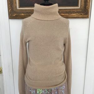 Theory camel cashmere turtleneck